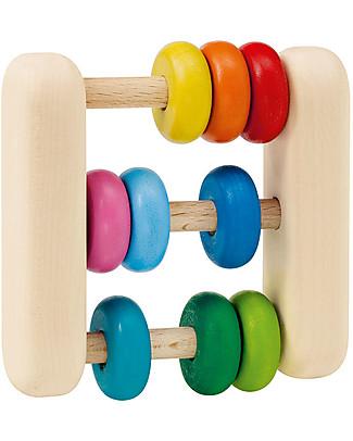 Selecta Abacus, Gioco in Legno - Ideale dalla nascita, perfetto per il senso del tatto! Sonagli