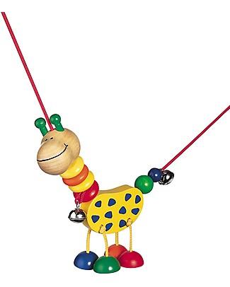 Selecta Collina - Giraffa in legno per carrozzina Sonagli