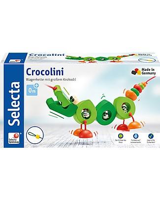 Selecta Crocolini - Coccodrillo in legno per carrozzina e passeggino, 63 cm Accessori