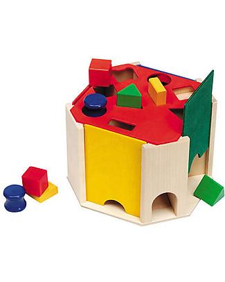 Selecta Quatrino - Formine in legno da incastrare Giochi Montessoriani