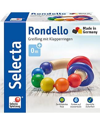 Selecta Rondello, Gioco in Legno Multicolore - Adatto dalla nascita! Sonagli di Legno