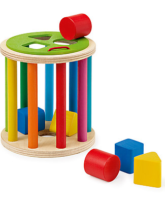 Selecta Sorting Roll – Shape sorting wooden toy Rattles