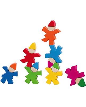 Selecta Stacking Gnomes, Personaggi in Legno da Impilare Construzioni In Legno