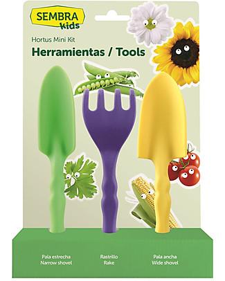 Sembra Mini Kit Attrezzi da Giardinaggio - Per seminare e coltivare le tue piantine! Giochi STEM