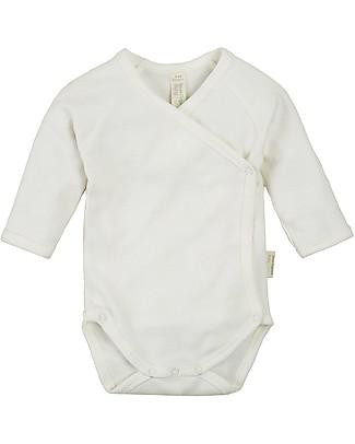 Sense Organics Body Maniche Lunghe con Bottoncini Laterali Ygon, Eco-bianco - 100% cotone bio Body Manica Lunga