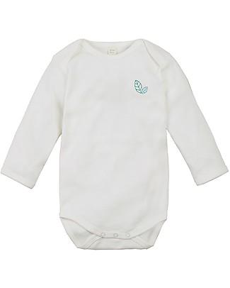 Sense Organics Body Maniche Lunghe Yvon, Eco-bianco - 100% cotone bio Body Manica Lunga