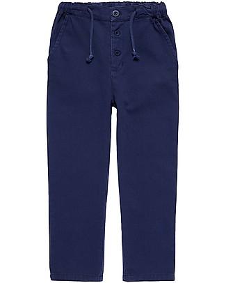 Sense Organics Pantaloi Lunghi Anton, Blu Scuro - 100% cotone bio  Pantaloni Corti