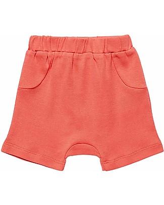 Sense Organics Pantaloncini Baby Emilio, Rosso Corallo - 100% cotone bio Pantaloni Corti
