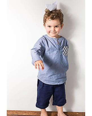 Sense Organics Pantaloncini Corti Ulli, Blu Scuro - 100% cotone bio  Pantaloni Corti