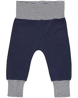 Sense Organics Pantaloni Lunghi Baby Sjors, Blu Scuro - 100% cotone bio Pantaloni Lunghi
