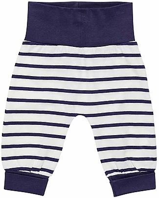 Sense Organics Pantaloni Lunghi Baby Sjors, Righe Blu Scuro - 100% cotone bio Pantaloni Lunghi