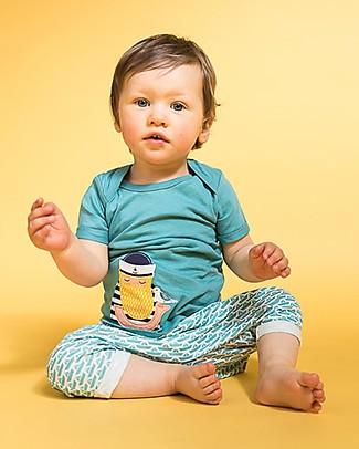 Sense Organics T-shirt con Applique Toby, Pescatore - 100% cotone bio T-Shirt e Canotte