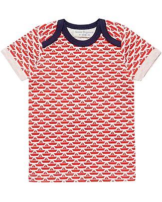 Sense Organics T-shirt Toby, Barchette Origami - 100% cotone bio T-Shirt e Canotte