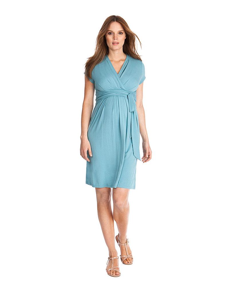 2763bccbf138 Seraphine Abbey - Abito Elegante Premaman e Allattamento - Azzurro Mare  Vestiti