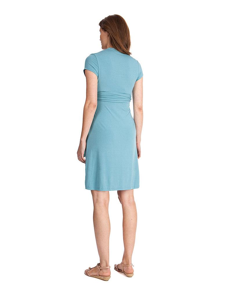 bab7f7a51e15 Seraphine Abbey - Abito Elegante Premaman e Allattamento - Azzurro Mare  Vestiti