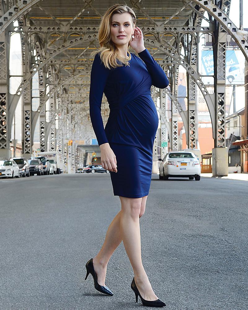 meglio qualità stabile più alla moda Seraphine Abito Elegante Premaman e Allattamento Kiley - Blu ...