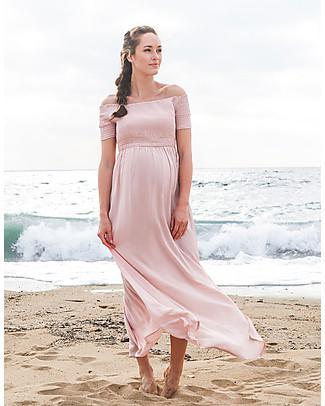 Seraphine Brylee Maxi Dress Premaman, Rosa - 100% Viscosa Vestiti