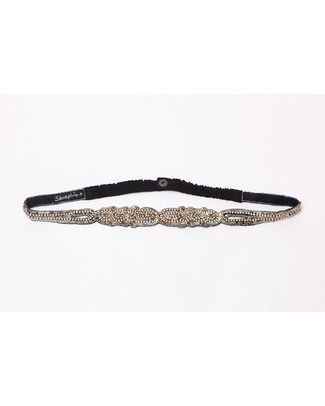 Seraphine Diamante - Cintura da Sera Premaman Impreziosita - Grigio Metallico Cinture