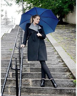 Seraphine Donatella, Cappotto Elegante Premaman (e dopo) in Lana e Cashmere, Nero Antracite Cappotti