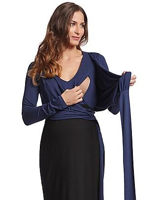 Seraphine Elsa, Abito Elegante Premaman e Allattamento - Blu/Nero Vestiti