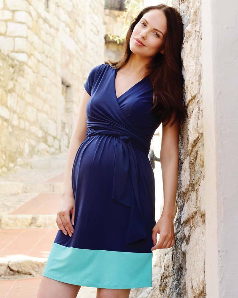 Seraphine Enja - Abito Premaman e Allattamento Blocchi di Colore - Blu    Azzurro Vestiti 8a992231b87