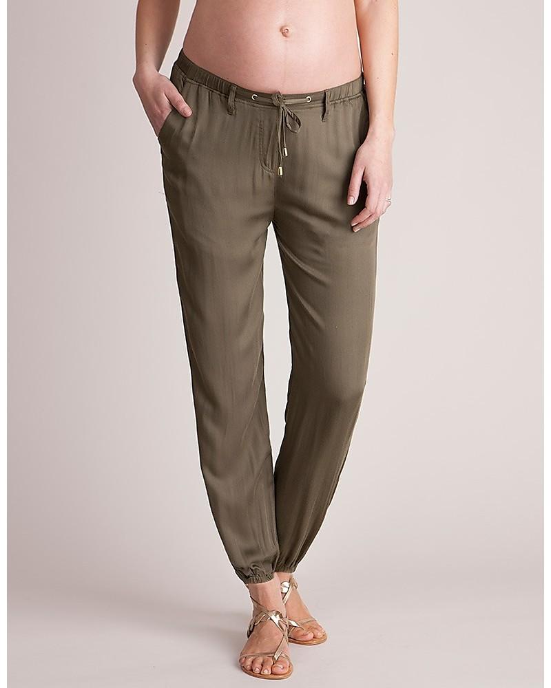 vendita calda online 62071 61c3b Seraphine Harmony, Pantaloni Harem Premaman, Kaki - Morbidi ...