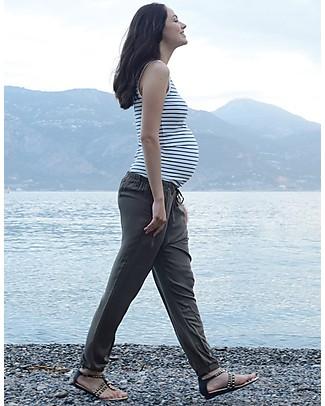 Seraphine Harmony, Pantaloni Harem Premaman, Kaki - Morbidi e versatili, 100% vscosa Pantaloni Lunghi