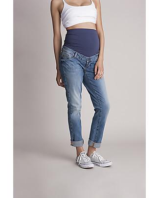 Seraphine Jeans Premaman Carson, Stile Boyfriend - Blu Chiaro Pantaloni Lunghi