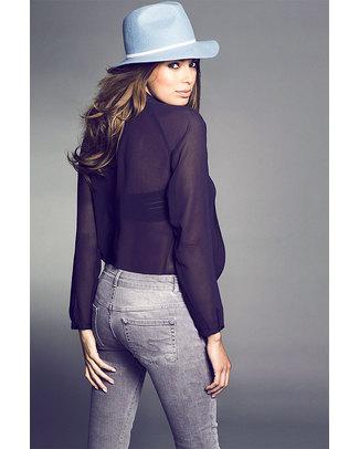 Seraphine Jeans Premaman Luxe Angelina Skinny - Grigio Chiaro Jeans Premaman