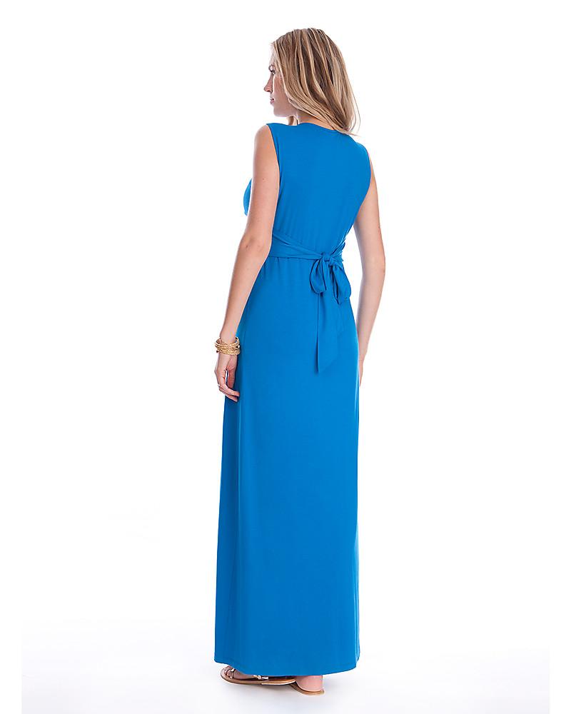 Seraphine Jo - Abito Elegante Premaman - Turchese Seaside - (perfetto anche  da cerimonia) 89c4d93b55c