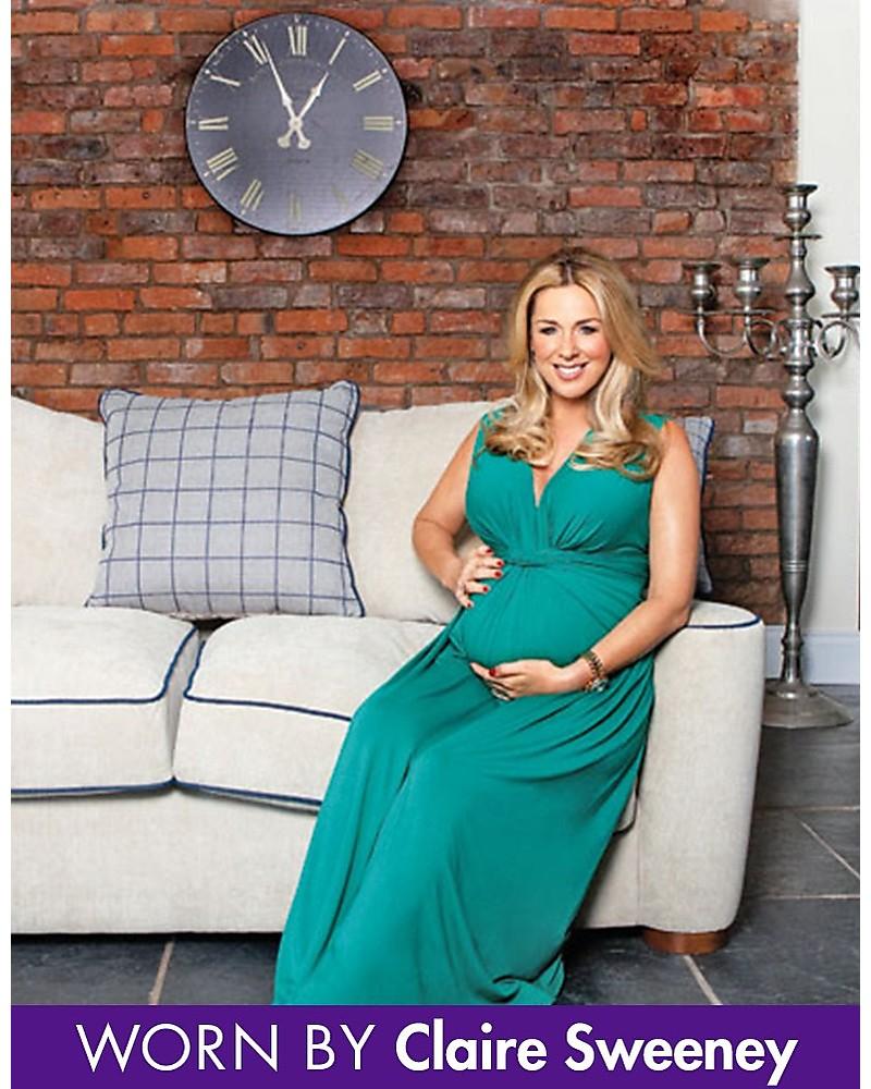 wholesale dealer 12463 0900e Seraphine Jo - Abito Elegante Premaman - Verde Smeraldo ...