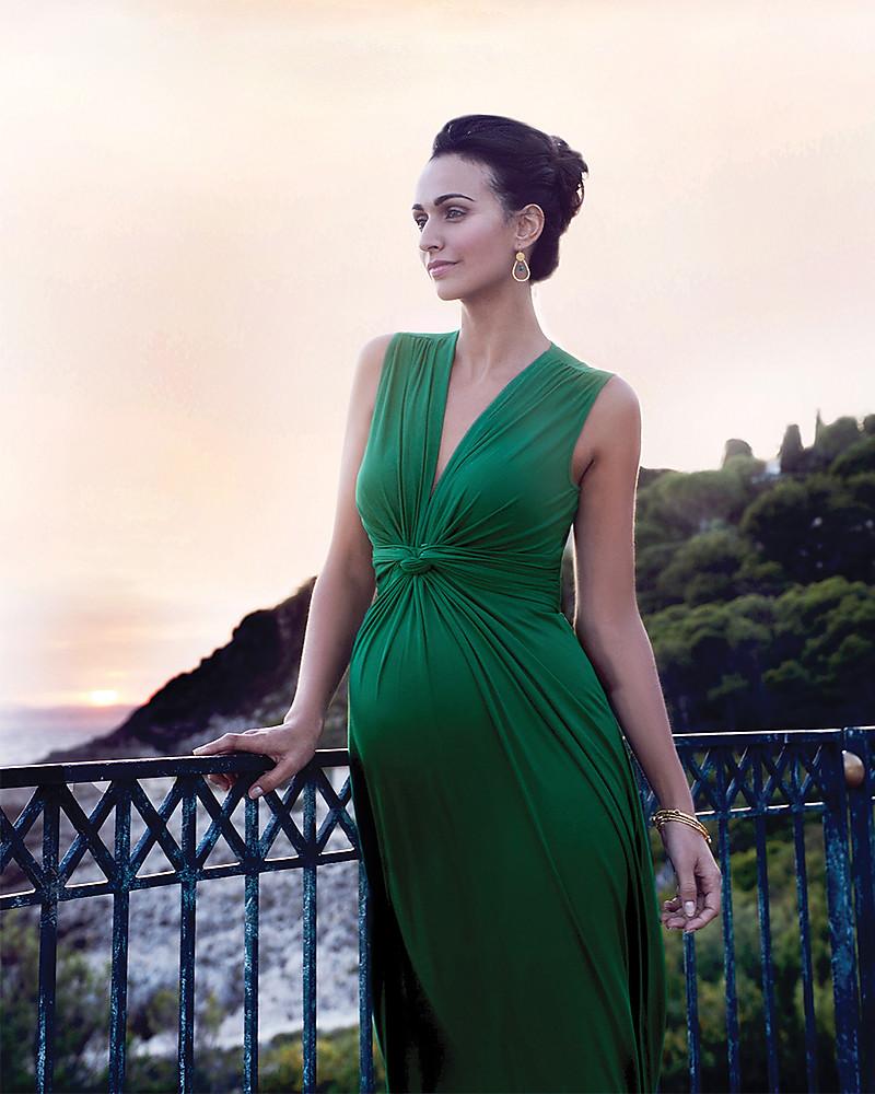 wholesale dealer d1f54 cbb7c Seraphine Jo - Abito Elegante Premaman - Verde Smeraldo ...