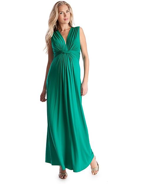 Vestiti Eleganti Premaman.Seraphine Jo Abito Elegante Premaman Verde Smeraldo