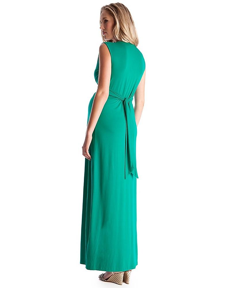 Seraphine Jo - Abito Elegante Premaman - Verde Smeraldo - (perfetto anche  da cerimonia) c81ee067b64