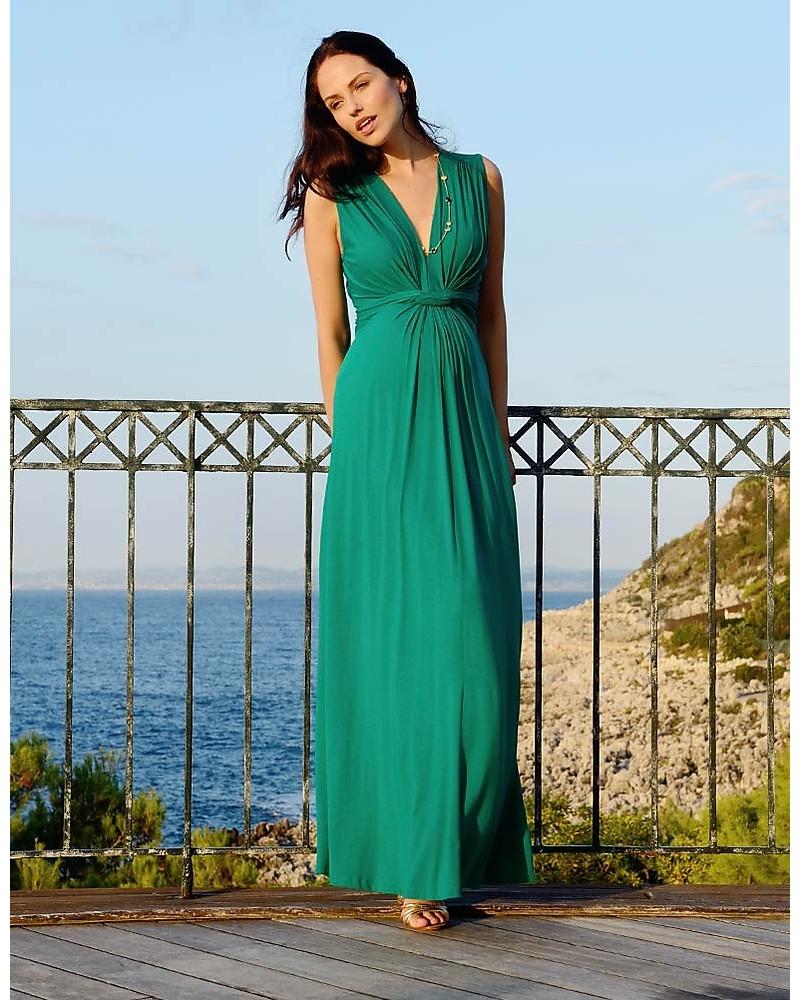 Seraphine Jo - Abito Elegante Premaman - Verde Smeraldo - (perfetto anche  da cerimonia) b3f80c78337