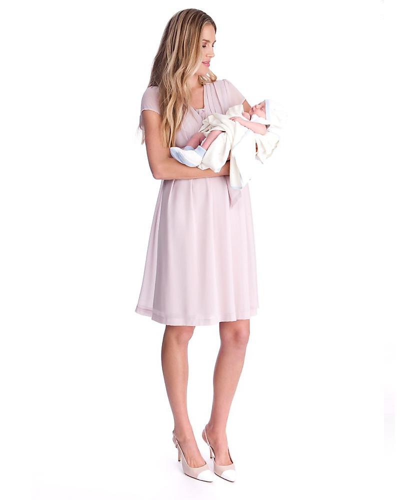 11d2eb9824e90 Seraphine Jodie Abito Premaman e Allattamento Elegante Chiffon - Rosa Malva  Vestiti