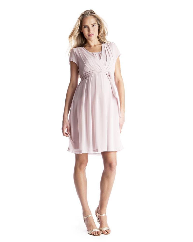 92005330bd13 Seraphine Jodie Abito Premaman e Allattamento Elegante Chiffon - Rosa Malva  Vestiti