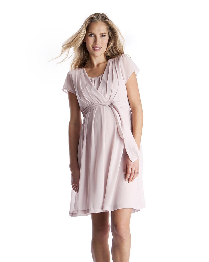 b90a1bc40615 Seraphine Jodie Abito Premaman e Allattamento Elegante Chiffon - Rosa Malva  Vestiti