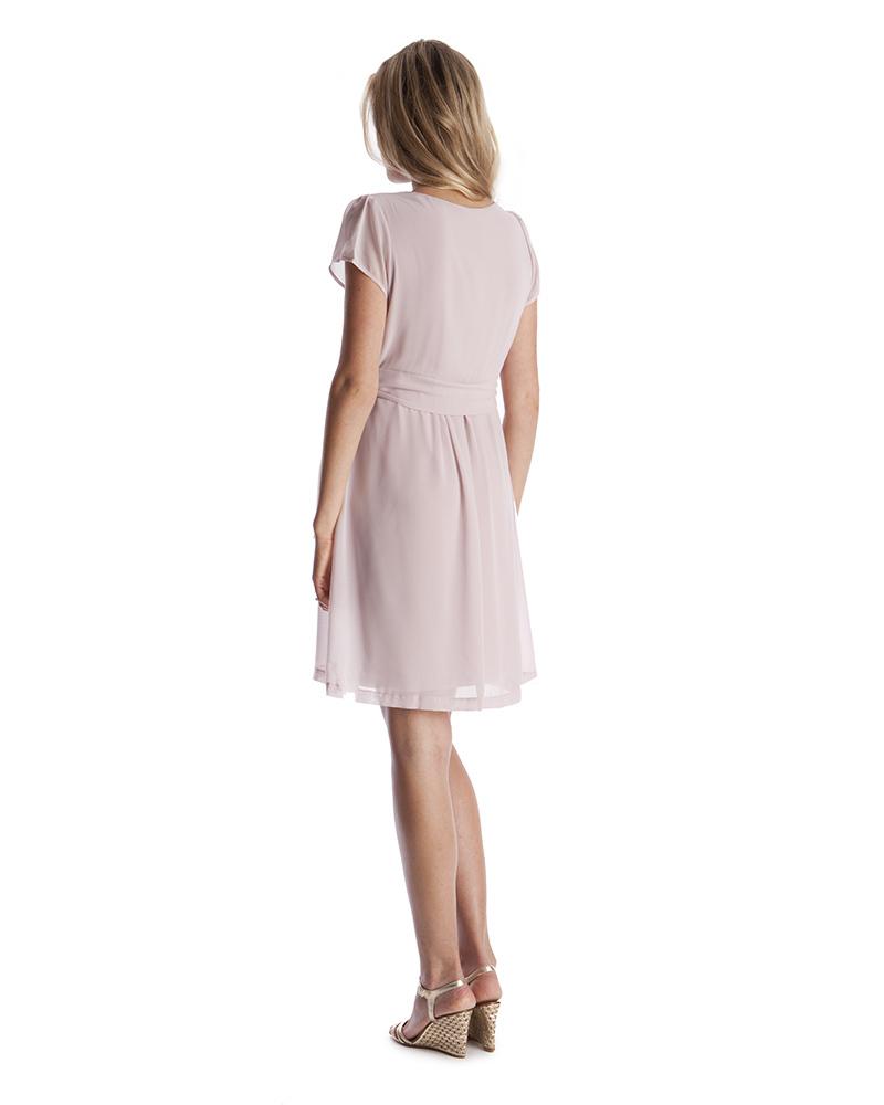 fa2a39ee92ec Seraphine Jodie Abito Premaman e Allattamento Elegante Chiffon - Rosa Malva  Vestiti