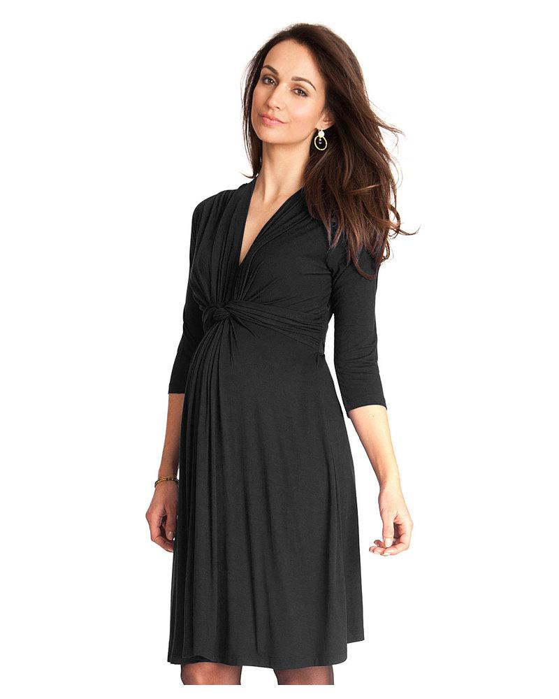 f3284d32a46e Seraphine Jolene - Abito elegante premaman con nodo maniche a ¾- Nero  Vestiti