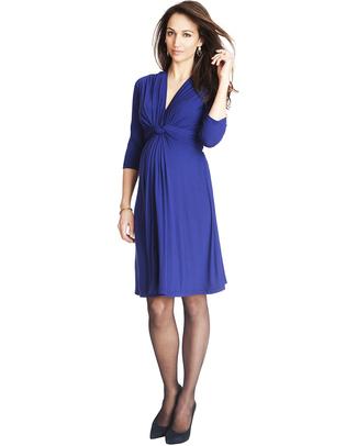 Seraphine Jolene - Abito elegante premaman con nodo maniche a ¾- Royal Blu Vestiti
