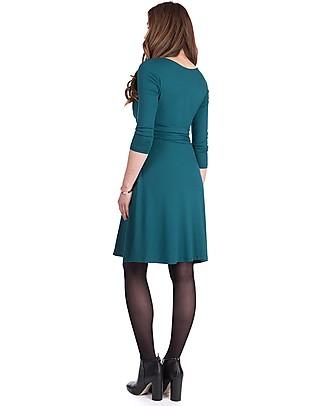 Seraphine Jolene - Abito elegante premaman con nodo maniche a ¾ - Verde Smeraldo Vestiti