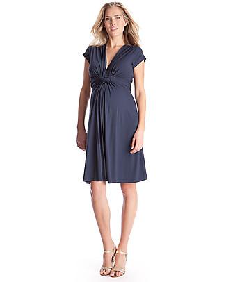 Seraphine Jolene - Abito Elegante Premaman Nodo - Blu Navy  Vestiti
