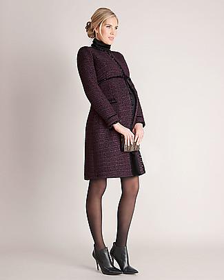 Seraphine Marina – Cappotto Premaman Elegante Bouclé – Bordeaux (Scelto da Kate Middleton) Cappotti