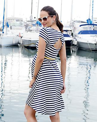 Seraphine Nicola, Abito Premaman Stile Navy - Bianco e Blu Vestiti