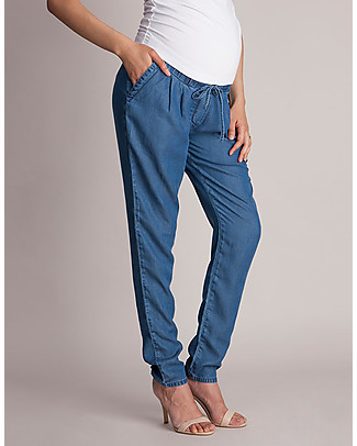 Seraphine Owen, Pantaloni Premaman, Blu - Morbidi e versatili Pantaloni Lunghi