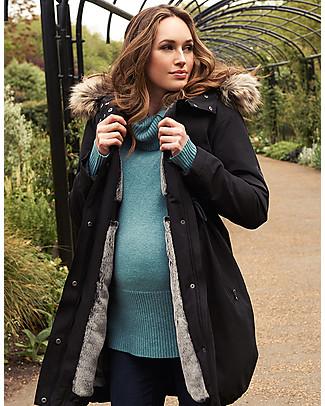 Seraphine Parka Premium Valette Premaman e Copri Porta Bebè 3 in 1, Nero - Perfetto prima e dopo la gravidanza! Giacche