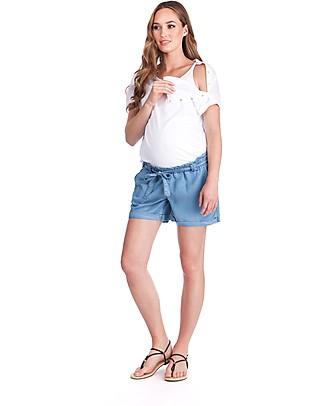 Seraphine Rocco T-Shirt Premaman e Allattamento, Bianco - 100% Cotone T-Shirt e Canotte