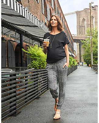 Seraphine Rocco Top Premaman e Allattamento, Nero - 100% Cotone T-Shirt e Canotte