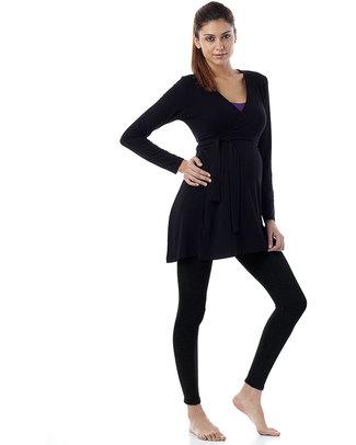 Seraphine Tammy - Leggings in Bambù Premaman Senza Cuciture - Nero (anche per l'attività fisica!) Leggings